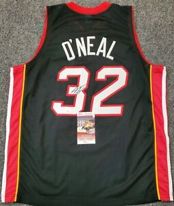 MIAMI HEAT SHAQUILLE O'NEAL AUTOGRAPHED SIGNED JERSEY JSA COA