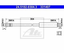 ATE Brake Hose 24.5102-0304.3