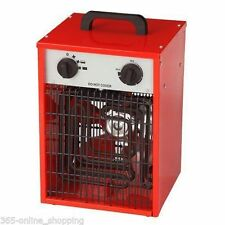 2KW 240V INDUSTRIAL SPACE  HEATER WORKSHOP ELECTRIC FIRE FAN OFFICE GARAGE NEW