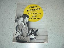 """Original Vintage """"Pictures in a Minute With Your Polaroid Land Camera"""" Booklet"""
