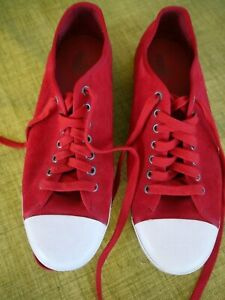 PUMA 352399 03 RED SUEDE SNEAKERS MEN'S SIZE 12