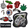 Grim Reaper Hell Biker Skull Embroidered Iron On Sew On Patch Badge Pack