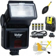 Digital Slave Flash + Batteries +Charger for Sony Alpha A100 A200 A230 A290 A300