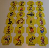 1950's NBC Bread label Disney Characters complete set of 48 on 6 uncut panels