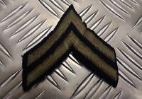 Genuine Vintage US U.S.M.C Marine Corp Corporal 2 Chevrons IKE Stripes GH05