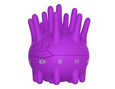 Cute Purple Sea Urchin Timer 60 min Manual Mechanical Cooking Timer by TrueFun