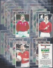 WALES ON SUNDAY-FULL SET- WORLD CUP RUGBY GREATS (T24 CARDS) - EXC+++