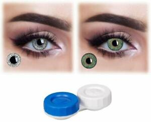 Soft Eye Grey & Green Color Lens with Case and Solution 2 Pair