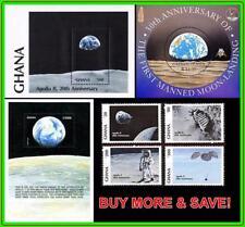 GHANA & SOLOMON IS. = SPACE / APOLLO PROJECT + 3 S/S MNH ASTRONOMY, GLOBE