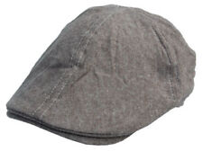 Cool4 Braun Khaki Melierte 6-Panel Flatcap Schiebermütze Vintage (L) Cap SFC08