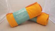 New Soft Warm Cozy Fleece Throw Blanket 50 x 60 Washable Orange / Red
