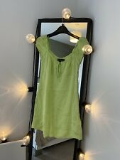 Green Motel Rocks Gavel Mini Dress In Satin Size XS