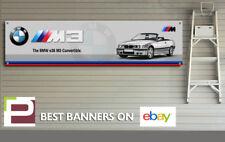 BMW e36 M3 Convertible Banner for Workshop, Garage, Man Cave, M Sport, M Power