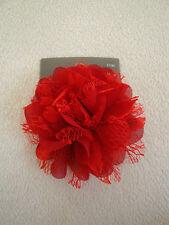 GORGEOUS red flower BROACH or HAIR Ornament _ BNWT