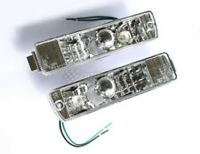 VW Golf Jetta MK2 2 Clear Bumper Indicator Repeater Lights Lamps Turn Signals