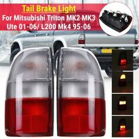 Pair Rear Tail Light Left7Right For Mitsubishi Triton MK2 MK3 Ute 01-06/L200 Mk4