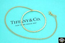 Tiffany & Co. 18k Rose Gold Paloma Picasso Hammered Circle 18 inch Necklace