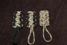 paracord zipper pull - Sahara Desert and black