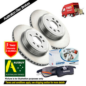 For LANDROVER Discovery 3 4.4L V8 350mm 04/05-09/09 REAR Disc Rotors & EuroPads