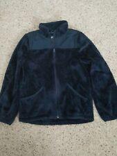 Children's Place Furry Favorite Jacket 7/8 Navy Blue Full Zip Medium