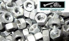 7/16-14 Finished Hex Nuts Hot Dipped Galvanized 100 Pieces