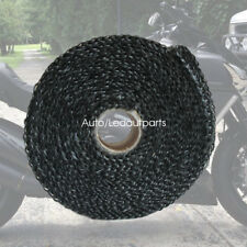 Heat Exhaust Wrap 2'' X 16' Black Fiberglass High Heat Exhaust Wrap