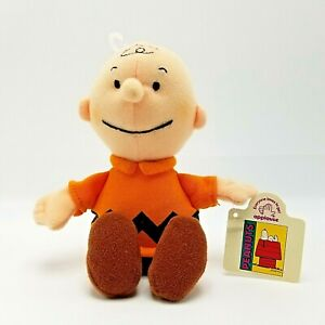 "Applause Charlie Brown Peanuts Gang Plush Soft Doll 7"" Bean Bag Toy With Tags"