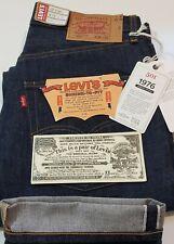 Levi's LVC 1976 501 Jeans Raw Indigo Selvedge USA Cone Denim sz 34 #26408-0000