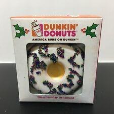 Dunkin' Donuts Kurt Adler Glass Holiday Ornaments 2007 VANILLA FROSTED