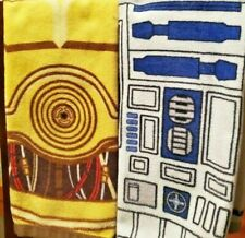 New listing Think Geek Star Wars R2D2 C3Po Hand Bath Kitchen Towels Used for Display Only