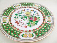 Vintage o antiguo firmado Roja China marca Base Esmalte pintado placa de trabajo