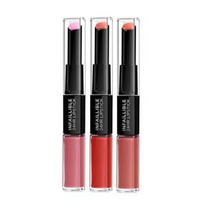 L'OREAL Paris Infallible 2 Step Lipstick Balm Duo Choose Shade - NEW