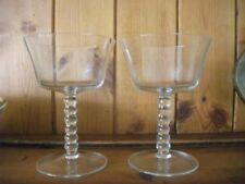 Champagne Glass Art Deco Clear Glass