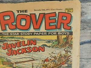 Rover and Wizard Dec. 18,1971 DC Thompson British Weekly Comic Tabloid Boys Life