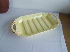 max Roesler Rodach Keramik Spargelplatte gelb orange Art Deco sehr gut erhalten