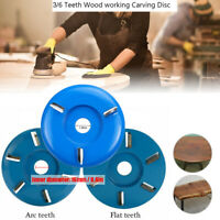 3/6 Teeth Wood Working Carving Disc Milling Cutter for Aperture Angle Grinders