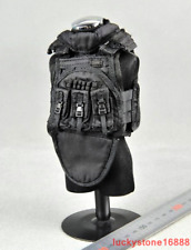 1/6 Scale Soldier Clothing Accessories Model Special Forces Black Tactical Vest