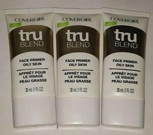 3 tube lot COVERGIRL TRU BLEND FACE PRIMER OILY SKIN unsealed nwop