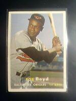 1957 TOPPS #26 Bob Boyd Orioles ExMt (no creases)