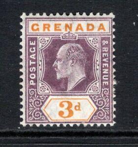 Grenada KEVII  1904-06 (Wmk Multi CA) 3d. Purple & Orange SG71 M/Mint