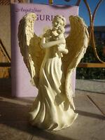 DELUXE ANGELO CUSTODE ARCANGELO Gesù bambino anima aura fede soprammobile STATUA
