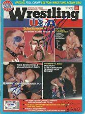 Barry Windham LOD Animal Ron Bass Nick Bockwinkel Signed Magazine PSA/DNA WWE