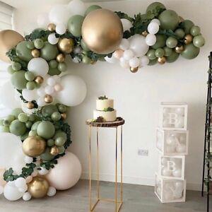 152pcs Retro Green Gold Balloon Arch Kit Garland Birthday Wedding Party Decor