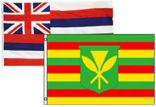 3x5 3'x5' Wholesale Combo Set State Hawaii & Kanaka Maoli 2 Flags Flag