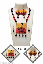 New listing Indian Culture Wooden Style Crystals Stones Fashion Necklace Earrings Jewellery