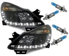 Feux diurnes-Optik phares noir Opel CORSA D 06-10 + 4x h1 xénon-Lampes