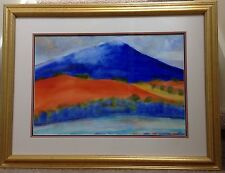 "Original Watercolor by Lynda Berdin ""Turquoise River"" 24 X 30 Framed"