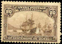 1908 Mint H Canada F+ Scott #103 20c Quebec Tercentenary Issue Stamp