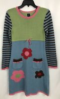Mini Boden Dress Sweater 13-14 Blue Green