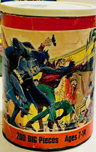 Vintage Batman Jigsaw Puzzle in Can .....missing 1 piece
